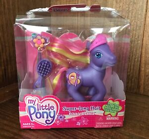 MLP My Little Pony Super Long Hair Dibble Dabble 2004 NEW G3