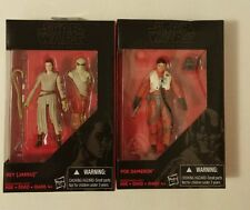 "Star Wars Black Series Rey Jakku & Poe Dameron 3.75"" the force awakens"
