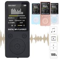 Fashion Portable MP3/MP4 Lossless Sound Music Player FM Recorder Ultra-thin MP3