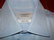Charles Tyrwhitt L/S Dress Shirt 16/33 Non Iron Blue Jermyn
