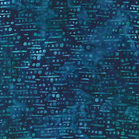 Robert Kaufman Batik Fabric, AMD-19771-4 BLUE, By The Half Yard, Quilting