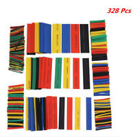 328Pcs Car Wire Connector Heat Shrink Tubing Wrap Sleeve Set Combo Tube Sleeving