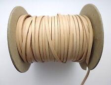 Lederband Flechtriemen 1 Meter natur hellbraun flach 3 mm für Ketten
