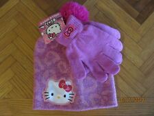 Girls Sanrio Hello Kitty Winter Hat and Gloves Set NEW Snow Age 3+ Cute
