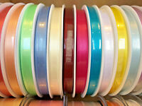 Berisfords Premium Double Satin Ribbon 35 Shades 3mm 7mm 10mm Width Cut to Order
