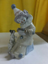 Lladro figurine - clown with dog and box - #5279