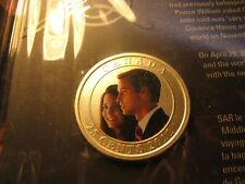 Canada 2011 Wedding Celebrations Prince William & K.Middleton 25 Cent Coin Set.
