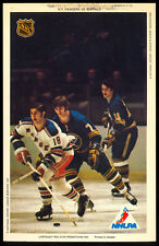 1971-72 NHLPA PRO STAR PROMOTIONS PHOTO GILBERT PERREAULT RICK MARTIN RC Sabres