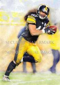 Troy Polamalu 08 Pittsburgh Steelers Art Print only 50