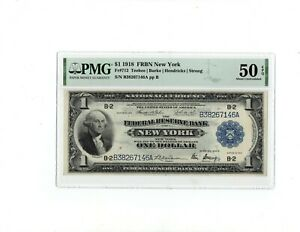 1918 $1 Federal Reserve Bank Note New York.Fr-712.PMG-50 EPQ