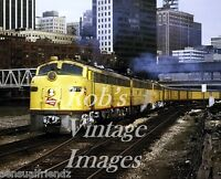 Milwaukee Road Hiawatha  EMD E-9 31A ttrain  Poster 1970's CMSP Railroad  photo