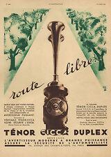 PUBLICITE AVERTISSEUR SONORE CICCA  AD 1934