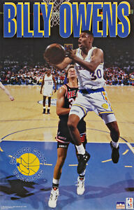 1993 Billy Owens Golden State Warriors Original Starline Poster OOP