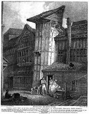 "Sweedons Passage, Grub Street, London, 1791, Repro Print 5.5x4"""