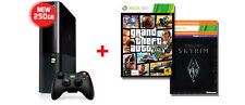 Xbox 360 250GB E Console + Grand Theft Auto V + Skyrim AUS *NEW!* + Warranty