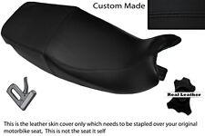 Negro Stitch personalizado se adapta a Triumph Sprint 900 93-98 Doble Cuero Funda De Asiento