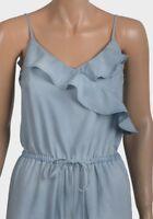 Ladies Jumpsuit Size 14 , Frill Tencel Sleeveless Long Trouser Light Blue