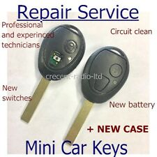Fits BMW Mini ONE Cooper R50 2 Button Remote Key Fob Case Blade Repair