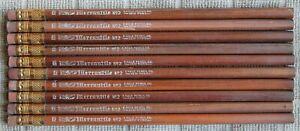 "10 Vintage Unused Eagle ""Mercantile"" 321 No. 2 Long Ferrule Pencils"