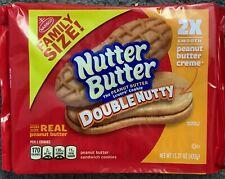 NEW FAMILY SIZE NUTTER BUTTER DOUBLE NUTTY PEANUT BUTTER SANDWICH COOKIES 15 OZ