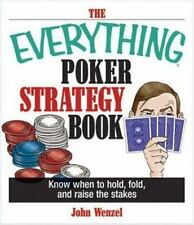 The Everything Poker Strategy Book CARDS GAMES PLAY DEAL BET CASINO NEW BOOK