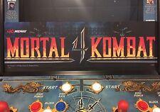 Mortal Kombat 4 Arcade Marquee Midway Translight Header Sign Backlit