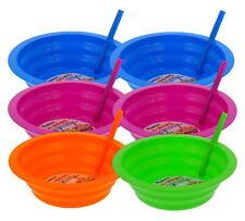 Arrow Sip-A-Bowl 6 Pack w/Built-in Straw, 22oz (Blue, Purple, Green, Orange)