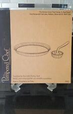 Pampered Chef new in the box tart /quiche pan with fluting tool #1543