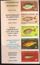 Wallis Futuna Isl 1980 Fish Strip Imperf Sc # 260a Mnh
