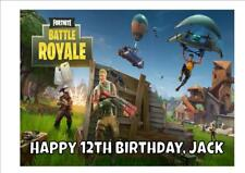 FORTNITE D1 PERSONALISED A4 ICING CAKE TOPPER plus FREE GIFT and FREE POSTAGE