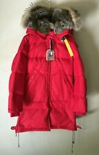 Parajumpers Long Bear Women's Masterpiece Jacket Scarlet RED Parka Small S NEW