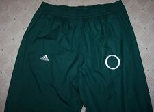 ADIDAS CLIMALITE Oregon Ducks Athletic Warm Up Pants -Green XL -Zipper Hems SOFT