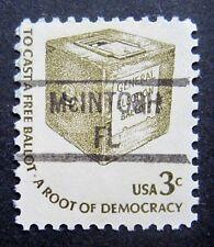 Sc # 1584 ~ 3 cent Americana Issue, Precancel, McINTOSH FL (al18)