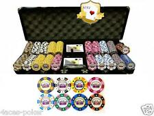 Poker 4 ACES 500er Pokerkoffer Chips Set Pokerchips Clay Composite Cash game