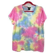 Hot Topic 2X pastel tie dye mesh top Womens