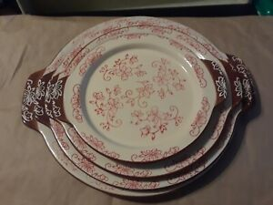 Temp-tations Presentable Ovenware Floral Lace (4) Nested Serving Tray Platter