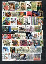 Great Britain British English Collection Postal Used Commemorative Lot (Uk 35)