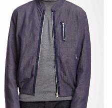 Slate & Stone Mens Tatum Bomber Style Jacket Navy Slate Size XL