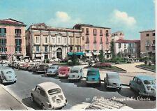 AVELLINO  - CARTOLINA ANNI '50 COLORATA: PIAZZA DELLA LIBERTA' CON AUTO FIAT 600