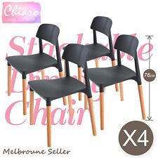 4 X Belloch Replica Dining Chair Stackable DESIGNER Retro Wooden Café Bar