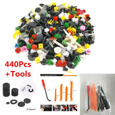 440Pcs+Tool Set Mixed Car Door Panel Retainer Rivet Bumper Fender Fastener Clips