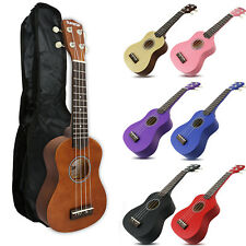 SUNWOLF Kids Beginners Ukulele Ukelele Soprano Instrument Hawaii Solid Guitar