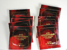 Avon LOT OF 10 MENS CORDOVAN COLOGNE MOIST TOWLETTE SAMPLES GREAT FOR TRAVEL