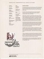 #5297 $5 Statue of Freedom Souvenir Page 1819 Commemorative Cancellation Stamp
