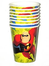 NEW ~~THE INCREDIBLES~~  8- PAPER CUPS 9oz.   PARTY SUPPLIES