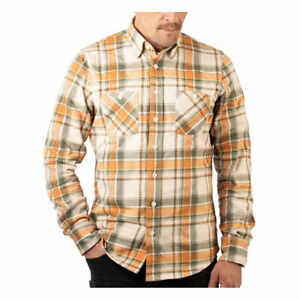 Rokker Colorado Fashionable Casual Wear Slim Fit Shirt Beige / Orange