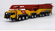 1/50 Sany 86 Metres 86M Concrete Pump Cement truck Construction 9x9 Wheels