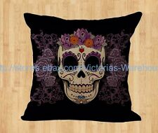 Sugar Skull Pillow Rockabilly cushion cover home decoration throw pillow cover