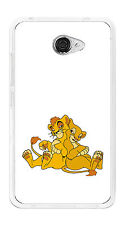 Cover Gel TPU Case Cover for Vodafone Smart Ultra 7 Drawing Lions