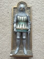 More details for vintage hand made marcus designs replica knight wall plaque